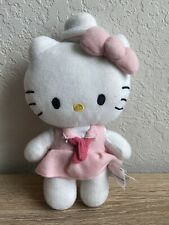 Hello Kitty Plush Doll * pink dress & sailor hat * 2014 Sanrio / Fiesta soft