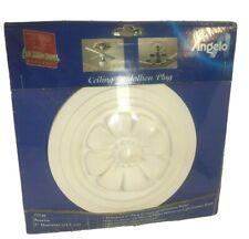 "Angelo Brothers Ceiling Medallion Decorative Plug 5"" White Customizable NIP"
