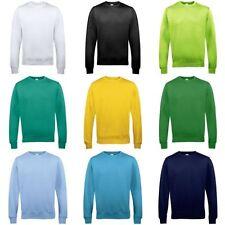 Crew Neck Plain Long Hoodies & Sweats for Men