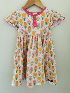 Girls Matilda Jane Clothing Lets Go Together Tulip Time Dress Size 4