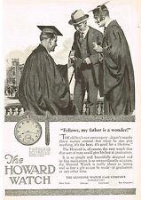 1920s Old Original Vintage 1924 Howard Pocket Watch Graduation Art Print Ad