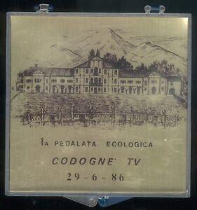 Radsport Plakette -Siegerpreis 1A Pedalata Ecologica Codogne´ 1986 -Italien, II