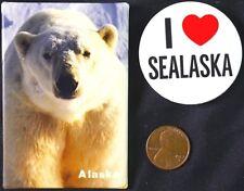 2 - SAVE ALASKA POLAR BEARS & SEALS 1990'S  - ORIGINAL PINBACKS SCARCE
