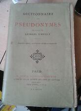 Dictionnaire des pseudonymes - D'Heilly - Dentu, 1869
