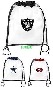 NFL Team Clear Drawstring Bag-Football Stadium Requirment