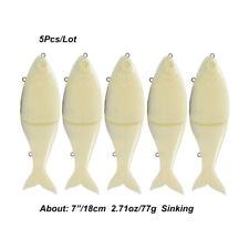 "DIY Blank Swimbait 7"" 77g Shad Fishing Lures Unpainted Slider Fish Baits Tackle"