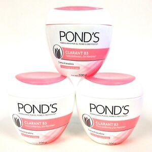 3 POND'S PONDS CLARANT B3 CREAMS NORMAL TO OILY SKIN 7.05oz/PIEL NORMAL A GRASA