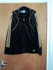 ADIDAS Velvet 3 stripes track style zipped jacket size 15 - 16 years