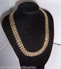 Vintage 1980's NAPIER Gold Tone Collar Necklace