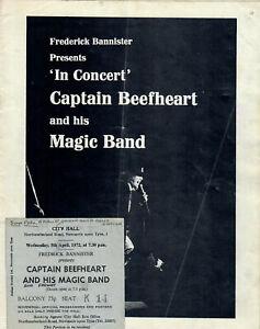 CAPTAIN BEEFHEART & HIS MAGIC BAND (1972) SIGNED AUTOGRAPH