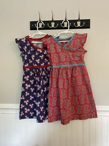 Lot of 2 girls Tea Collection dresses size 6