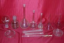 12 Teile Glas Kolben Trichter Petrischale Arzt Apotheke Krankenhaus Chemie Labor
