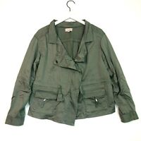 Loft cargo jacket motorcycle olive green size medium