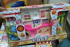 set cucina completo fuoco posate Kit gioco di qualità giocattolo toy a75