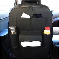 Car Seat Back Multi-Pocket Storage Bag Organizer Holder Accessory Black Hanger