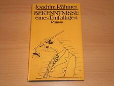 DDR Roman  Bekenntnisse eines Einfältigen von Joachim Rähmer