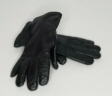 Illinois Glove Company Black Leather Gloves Size 6C Wool Liner SP0100-97-D-4004