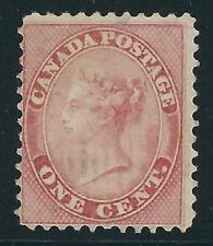 Canada # 14 Used - 1859 1c. Queen Victoria - $90 Light Cancel