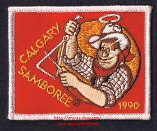 LMH PATCH Badge 1990 GOOD SAM CLUB  Canada  CALGARY SAMBOREE  Cowboy Rodeo Sams