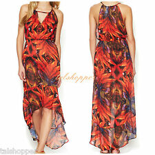 Anthropologie Birds of Paradise Swimsuit CoverUp Dress NWT $145 M Red Carter