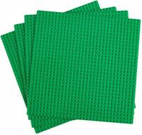 "4Pcs Green 10""x10"" 32x32 stud Classic Brick Building Base Plates All Major Brand"