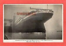 More details for launch white star liner britannic belfast 1914 rp pc ref u822