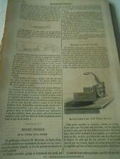 Machine à couper le pain 1857 Gravure Print Article