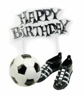 4 x Football Cake Decorations Soccer Boots Ball Birthday Party Supplies Footie