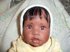 Dark Skin Gotz 21 Inch Big Baby Girl Doll Giinn Numbered 492 Looks Real