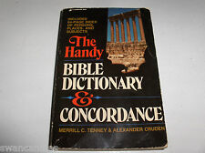 THE HANDY BIBLE DICTIONARY & CONCORDANCE 1983 Tenny-Merrill Christian Backpocket