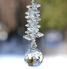 m/w 30mm Swarovski Crystal Ball on Large Octagon Strand Sun Catcher Ornament