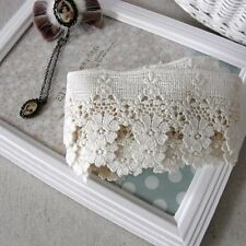 1Yards Antique Style Cotton Fabric Embroidery Crochet Lace Trim Doll Dress 4.5cm