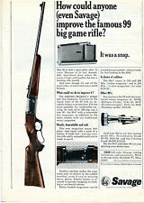 1965 Print Ad of Savage 99 Big Game Rifle How could anyone improve the famous 99