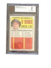 1969 Topps #412 Mickey Mantle Checklist