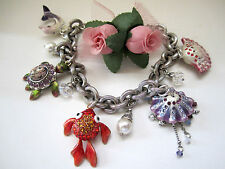 "Brighton ""MARINE MARVELS"" Charm Bracelet (MSR$150) NWT/Pouch"