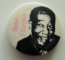 DUKE ELLINGTON OLD METAL BUTTON BADGE FROM THE 1980's VINTAGE JAZZ RETRO