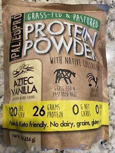 PALEOPRO Paleo Protein Powder, Aztec Vanilla, 16oz/454g, Sugar Free Grass Fed