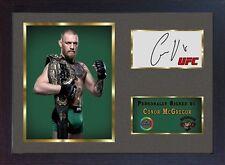Conor McGregor MMA UFC firmato autografo sport pugilato cimeli incorniciato