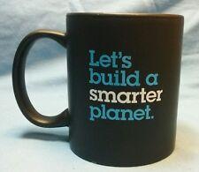 "IBM ""Let's build a smarter planet"" coffee cup mug - black"