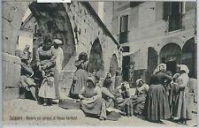 60553  - CARTOLINA d'Epoca - L'AQUILA provincia :  SULMONA - MERCATO 1909