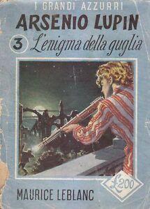 ARSENIO LUPIN L'ENIGMA DELLA GUGLIA di Maurice Leblanc 1952 Pagotto libro