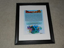 "Framed 2011 Bonnaroo Mini-Poster, Eminem, Arcade Fire, Black Keys RARE 14""x17"""