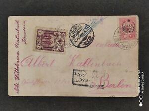1917 Turkey Postal Stationary Postcard Cover To Berlin germany