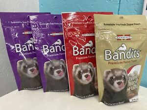 Marshall Bandits Premium  Raisin/bacon/PB Flavor Ferret Treats, 4x 3-oz bag