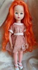 Bambola FANNY rosso carota MIGLIORATI Alta Moda  FASHION DOLL  43 CM