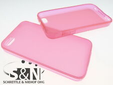 iPhone 4 4S Neon Cover Silikon Case Bumper Hülle pink