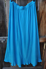 ART TO WEAR MISSION CANYON FLIRTY 5 SKIRT IN VIVID SOLID TURQUOISE, ONE SIZE!