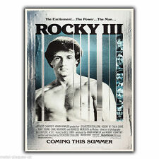 Rocky 3 III Movie Film Métal Mural Signe Plaque Poster print Sylvester Stallone