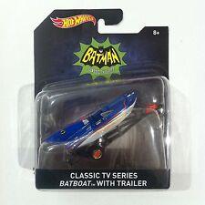 Hot Wheels Batman 1966 Batboat with Trailer Diecast 1/50 Scale - New