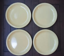 "Set of (4) Nancy Calhoun Flamingo China LEMON Yellow Dinner Plates - 10 5/8"" D"